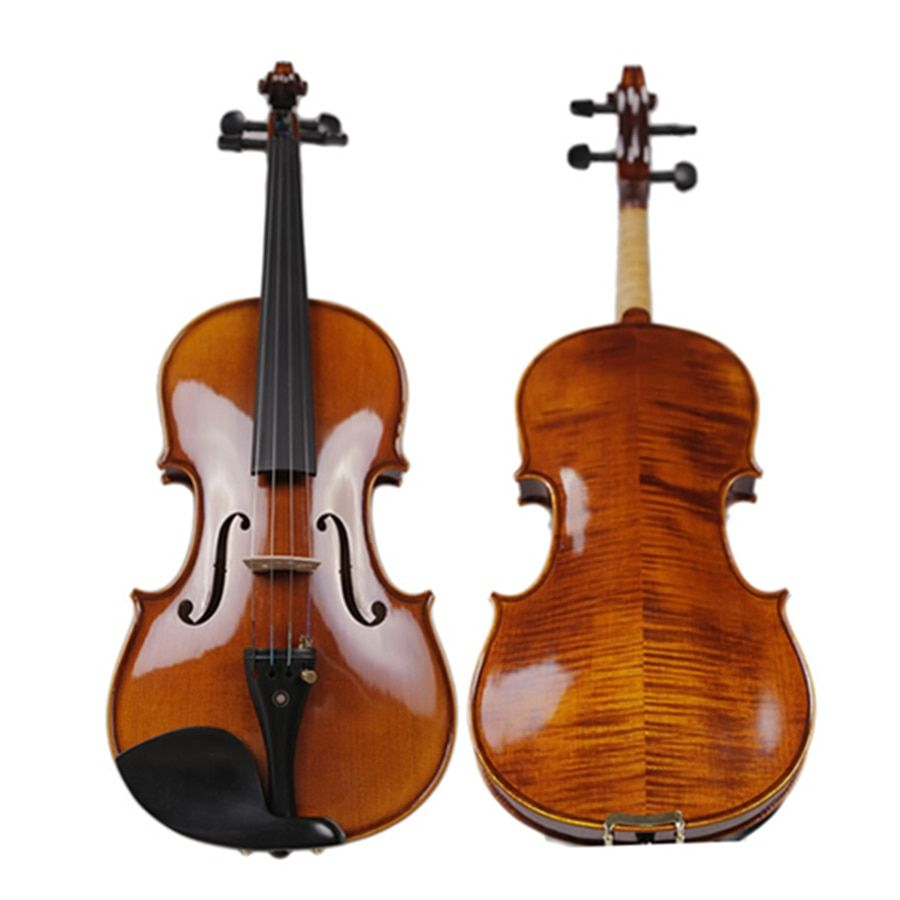 Professional Violino Natural Flamed Handmade Violin Maple Wood Antique Violino 4/4 3/4 fiddle case bow Stringed Instruments