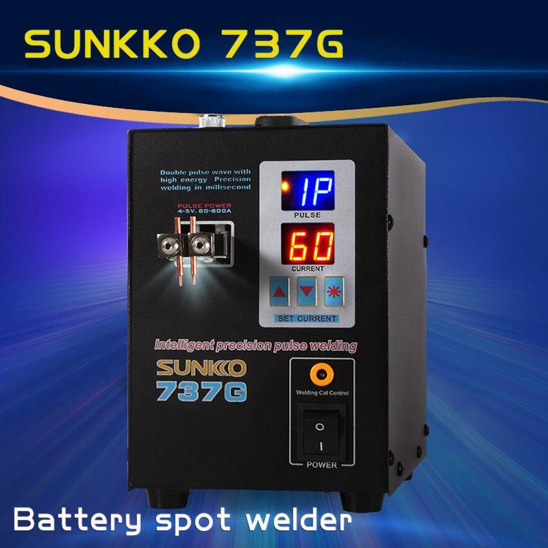 Neue SUNKKO 737g Batterie Spot schweißer 1.5kw LED licht Spot Schweißen Maschine für 18650 batterie pack schweißen präzision spot schweißer
