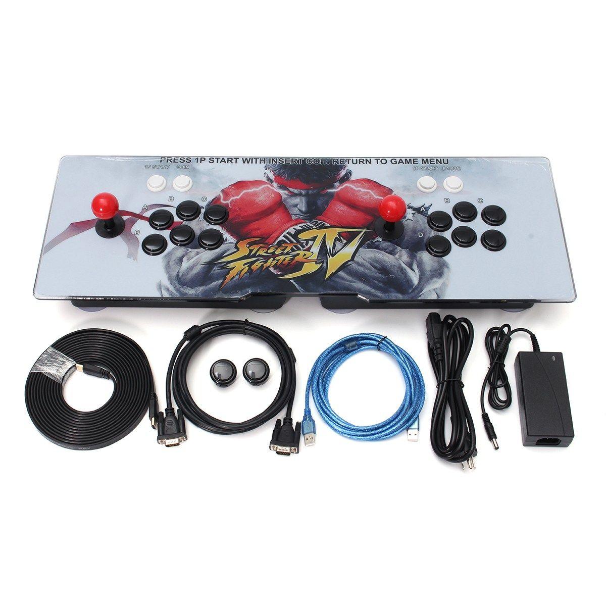 800 en 1 estilo retro juegos arcada joystick con 2 jugadores joystick dual hogar juego arcade consola juego clásico para PC para TV
