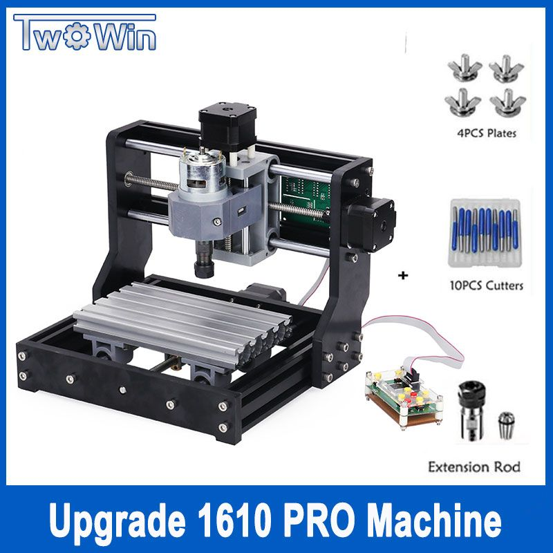 CNC 1610 Pro 3 Axis pcb Milling machine,GRBL control Diy mini cnc machine,Wood Router laser engraving,with offline controller