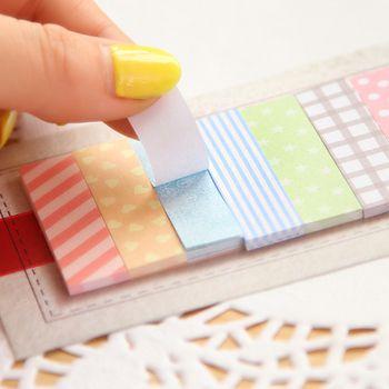 Милые 160 страниц стикер школьные принадлежности Memo Флаги мини липкий блокнот для заметок подарки для девочек