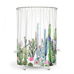 África Ttropical planta 180*180 impermeable cortina de la ducha Cactus tela de poliéster cortina de baño cortinas decoración del hogar