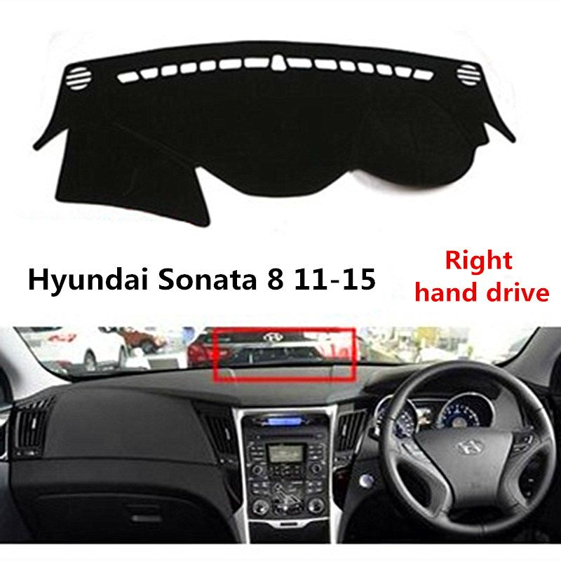 TAIJS Car dashboard cover for Hyundai Sonata 8 2011-2015 Right hand drive Auto dashboard Mat for Old Hyundai Sonata 8