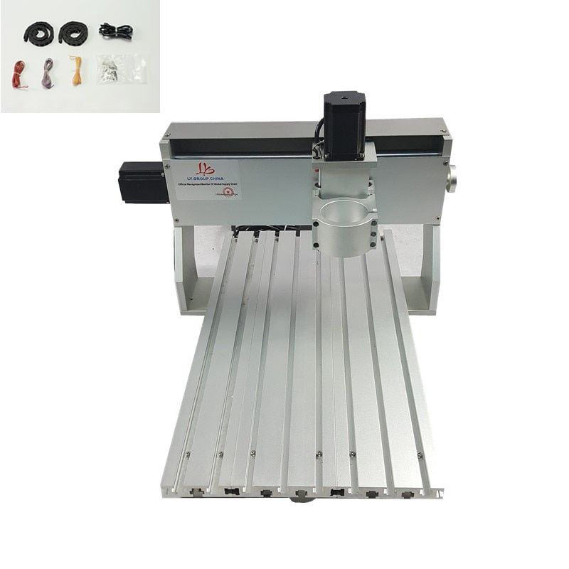 3 axis DIY metal mini cnc router frame 6040 PCB engraving machine parts with limit switch