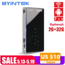 BYINTEK UFO P8I Android 7.1 OS Pico Tasche HD Tragbare Micro lAsEr WIFI Bluetooth Mini LED DLP Projektor mit Batterie