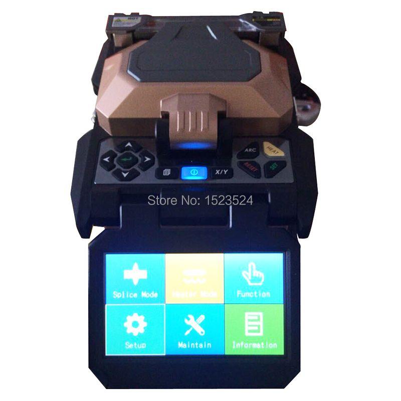 AV6481 touchscreen Automatische FTTH Fiber Optic Setzmaschine Optical Fiber Fusion Splicer