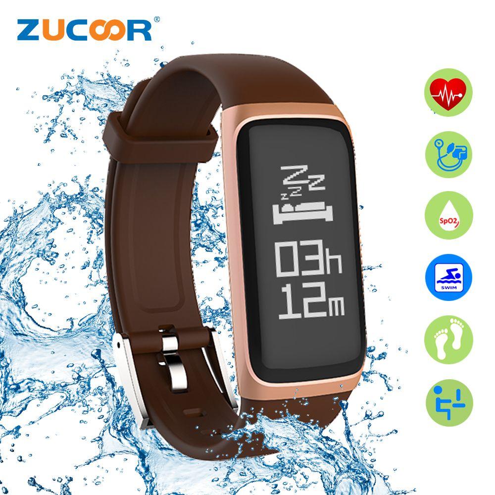 Zucoor умный Браслет Приборы для измерения артериального давления сердечного ритма Мониторы CB02 Фитнес браслет импульса Для мужчин Группа ...