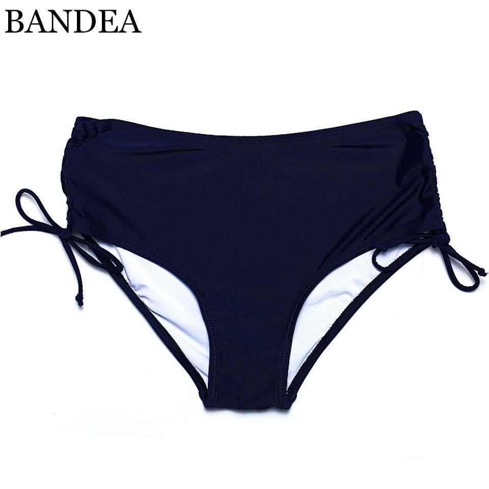 BANDEA 2017 Hot New Solid Bikini Bottoms Sexy Straps Bikini Brief Bottom Swimwear Trunks Underwear Plus Size