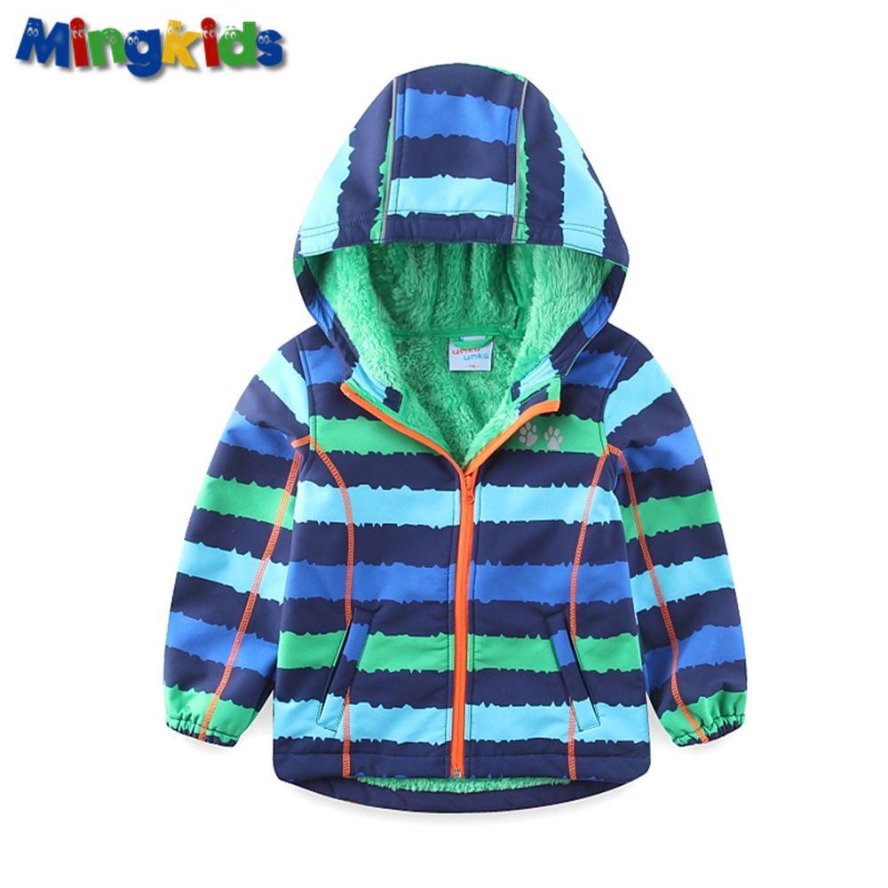 UmkaUmka by Mingkids High quality windbreaker jacket for boys waterproof with fleece lining Soft Shell outdoor raincoat Sport