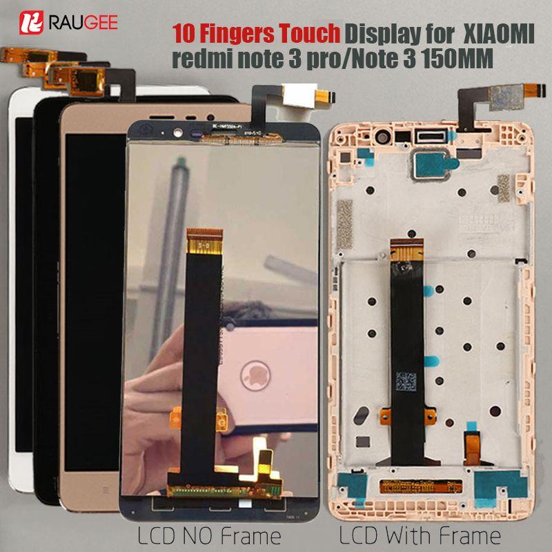D'affichage Pour Xiaomi Redmi Note 3 LCD Écran Tactile D'affichage avec Doux-clé Rétro-Éclairage/Cadre pour Redmi Note 3 Pro/Premier Affichage 150mm