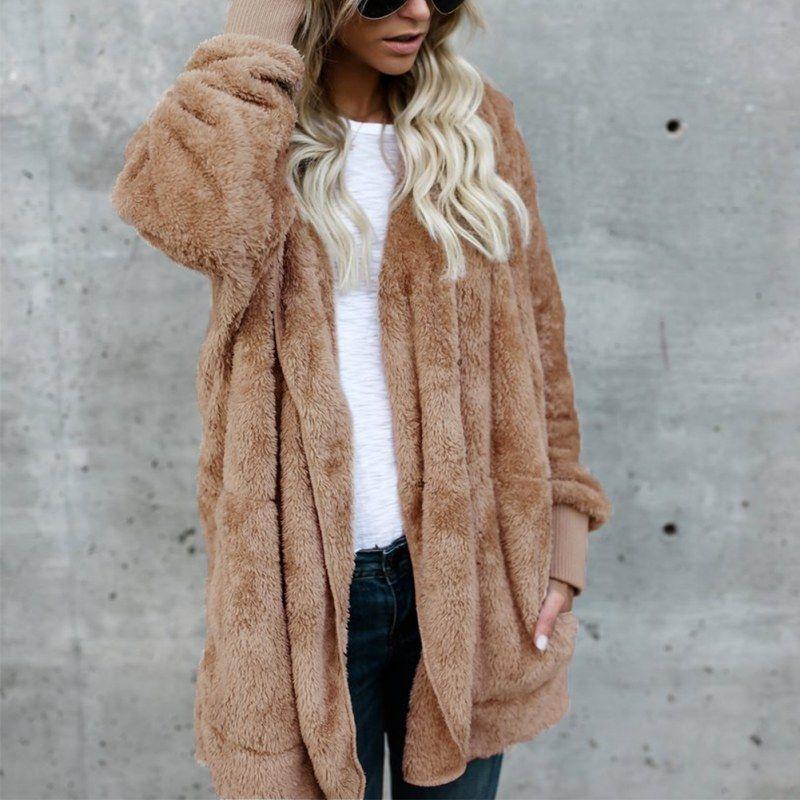 2017 Fashion Women Hooded Long Coat Jacket Hoodies Casual Outwear Winter Cardigan Coat Womens