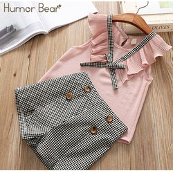 Humor Bear Girls clothes Girls Sets Summer Set 2019 Kids Clothes Girls Clothing Sets Two-Piece Kids Suit children clothing