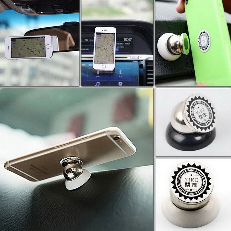 GETIHU 360 Magnetic Phone Holder For Car Mount Magnet Universial Mobile Cell Phone Smartphone Mini Stand Support GPS Navigation