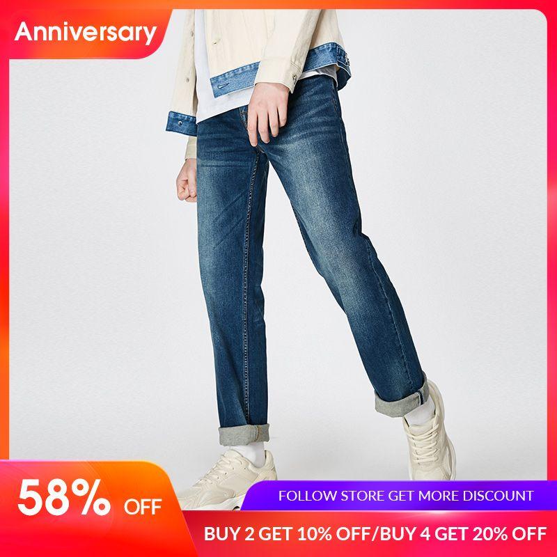 JackJones 2019 Spring New Men's Elastic Cotton Stretch Jeans Pants Loose Fit Denim Trousers Men's Brand Fashion Wear 219132584
