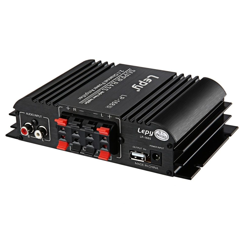 Lepy LP - 168S 12V Auto Audio Car Amplifier Power Subwoofer Stereo Sound With AUX Function,Loudspeaker and Remote Control
