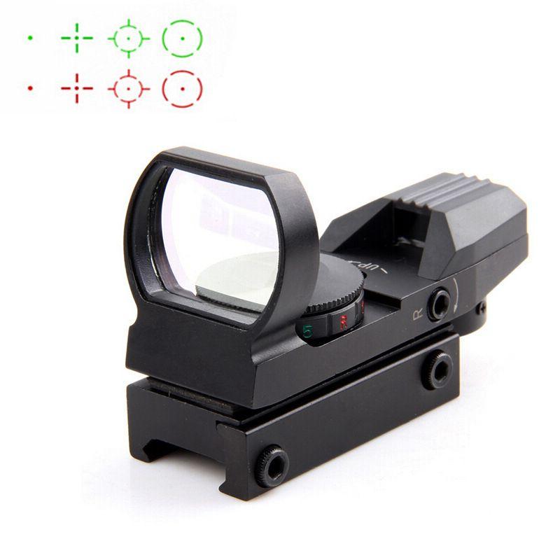Hot 20mm Rail Riflescope <font><b>Hunting</b></font> Optics Holographic Red Dot Sight Reflex 4 Reticle Tactical Scope <font><b>Hunting</b></font> Gun Accessories