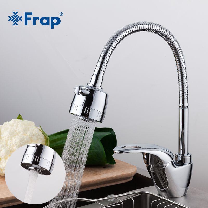 Frap 1set Brass Kitchen sink faucet Mixer Cold and Hot Tap Single Hole Water Tap mixer kitchen mixer torneira cozinha F4303