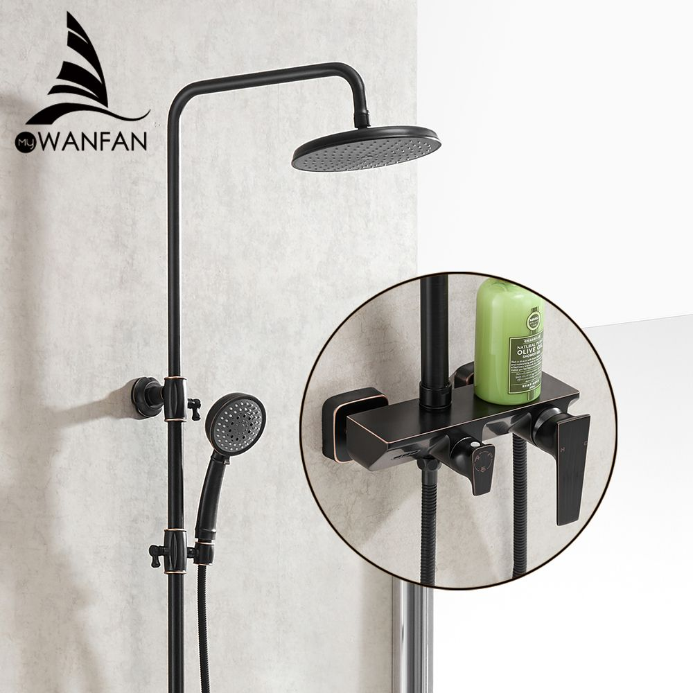 Dusche Armaturen Einzigen Halter Dual Control Dusche System Badewanne Wasserhahn Top Regen Dusche Mit Slide Bar Wasser Mischbatterie 877026
