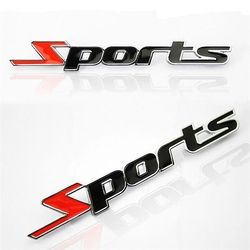 Sport Version Of The Metal Car Labeling Sports Word letter 3D Chrome metal Car Sticker Emblem Badge Decal Auto@11215@@@