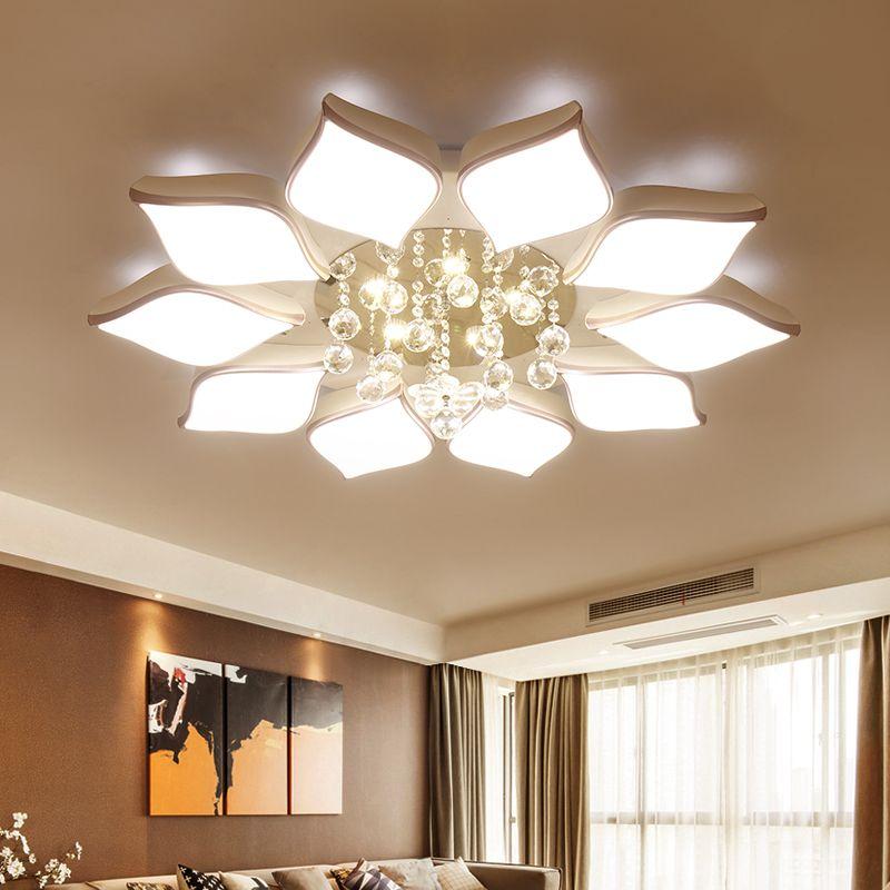 Cristal Moderne Led Plafonniers Pour Le Salon Chambre AC85-265V lustre lamparas de techo avize Cristal Plafond Lampe Appareils