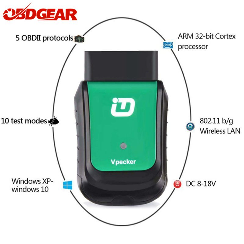 2018 Newest Vpecker V10.4 Easydiag Wifi/ Bluetooth OBD2 Car Diagnostic Tool Full Systems OBD 2Automotive Scanner Free Update