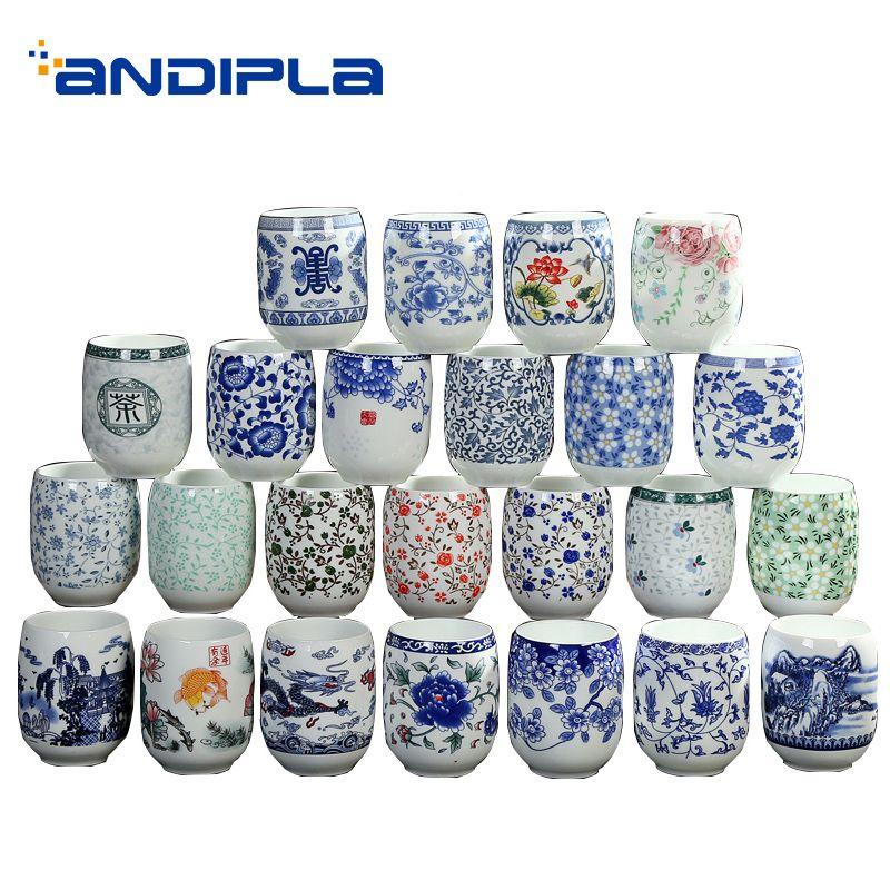 2 PCS/Lot Jingdezhen Vintage tasses à thé en céramique porcelaine tasse à eau maître thé tasses de Style chinois boisson Teaware cadeaux de noël