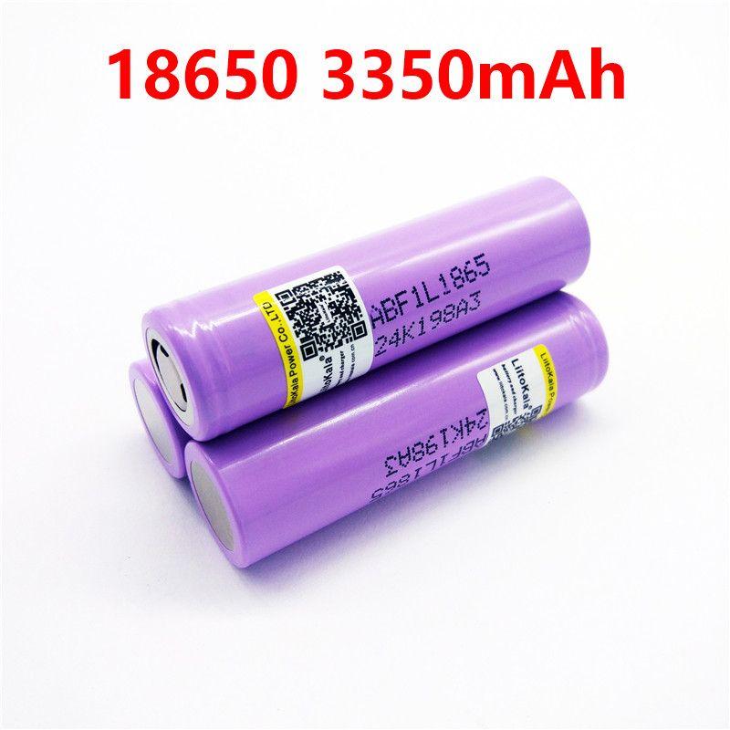 Liitokala 3 teile/los Original 3,6 v 18650 3350 mah batterie INR18650 F1L 4,2 v Abgeschnitten Akku