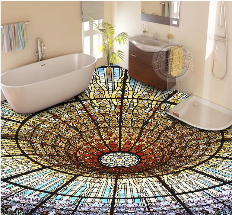 Пользовательские роскошные освещенные плитки для пола обои красочные 3 D виниловые полы, обои для гостиной 3D полы ПВХ воды
