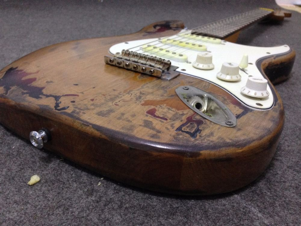 Rory Gallagher Signature ST Relic electric guitar 100% handmade Alder body