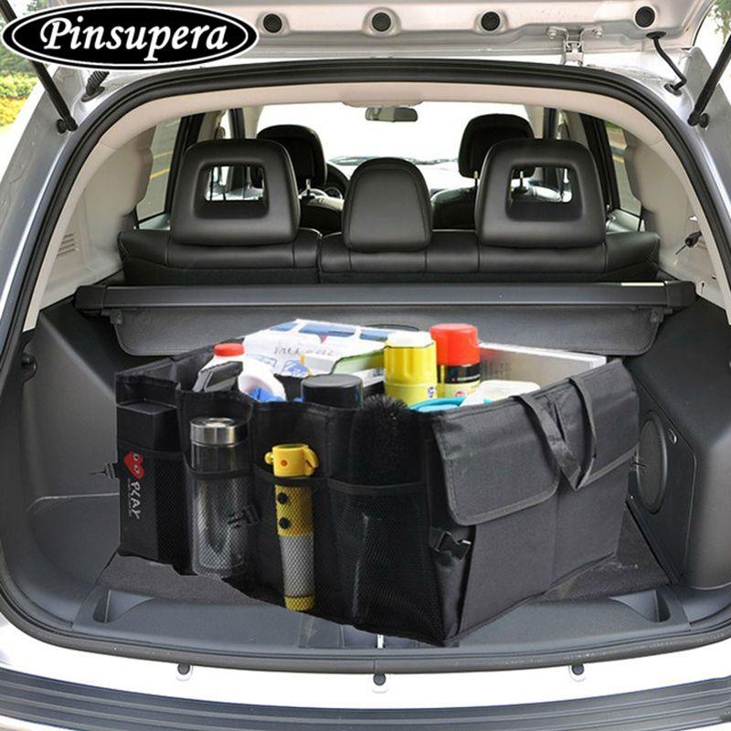 Складной черный хранения автомобиля багажник органайзер Bag сиденье карман Грузовой Магистральные коробка для хранения чистая Сумки Авто С...