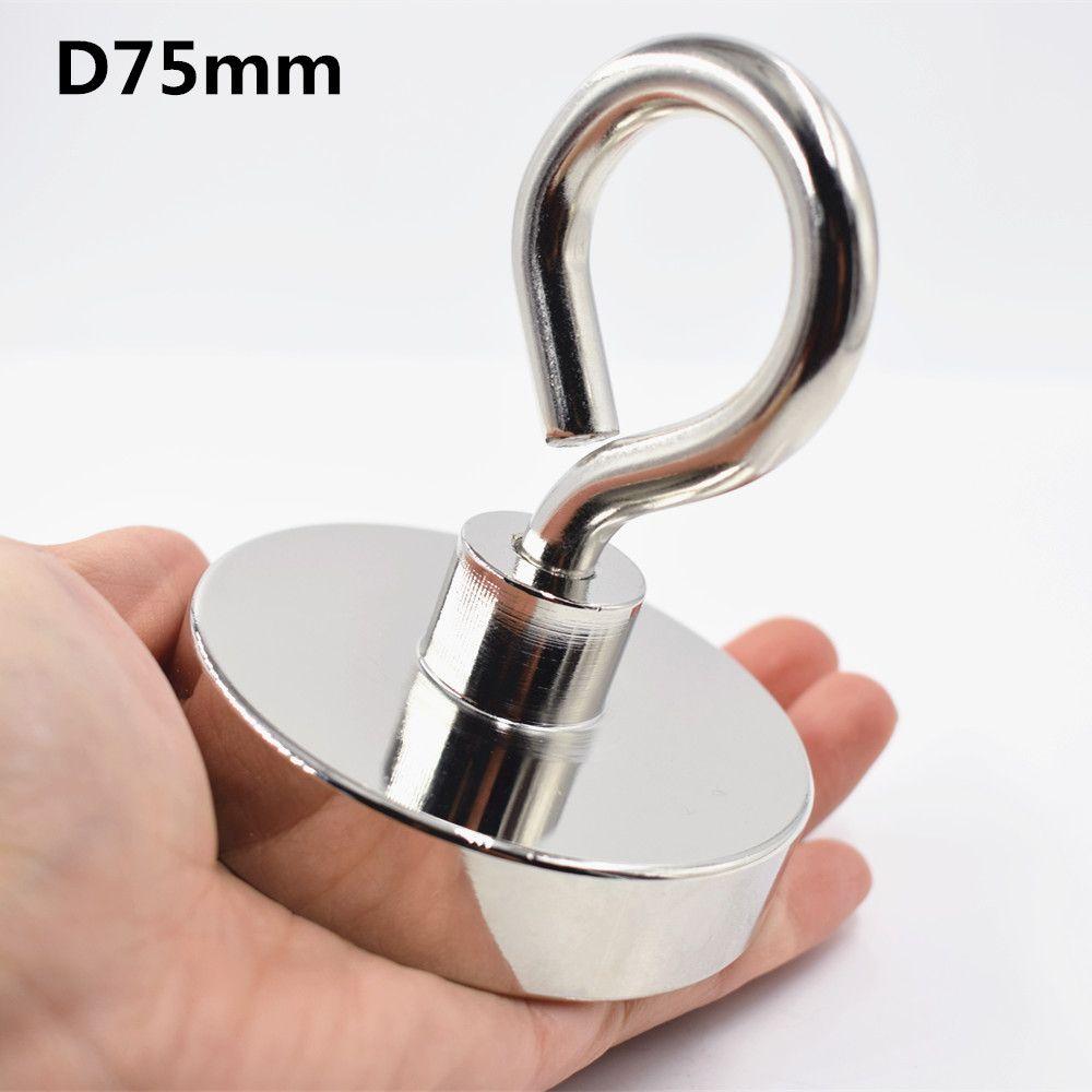 1pc Neodymium magnet super strong powerful Circular Ring salvage magnetic fishing permanent NdfeB hook holder sea equipment