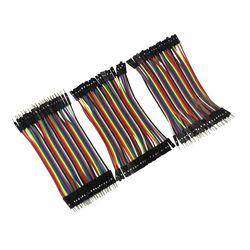 Dupont Ligne 120 pcs 10 cm Mâle à Mâle + Femelle à Mâle et Femelle à Femelle Cavalier Dupont Câble pour arduino DIY KIT