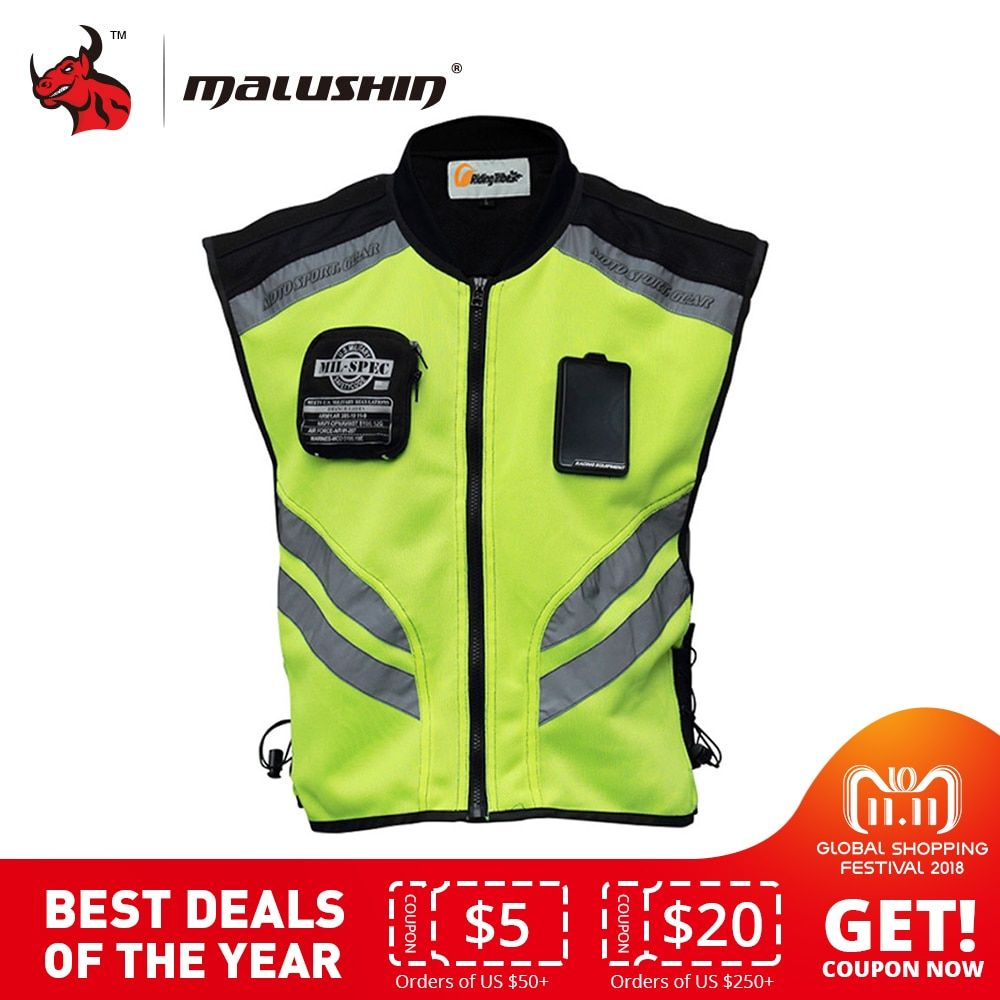 Riding Tribe Reflective Desgin Waistcoat Clothing Motocross Off-Road Racing Vest Motorcycle Touring Night Riding Jacket