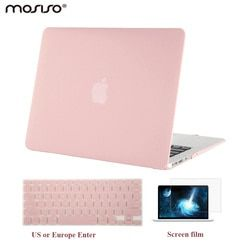 MOSISO Crystal Clear Case for Macbook Air Pro Retina 13 15 for Macbook New Pro 13 15 inch Touch Bar New Air 13+ Keypad Cover