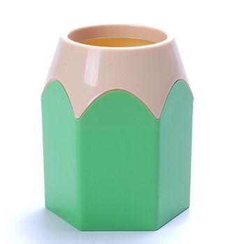 Populaire Creative Stylo Vase Crayon Pot Maquillage Brosse Titulaire Papeterie Bureau Bien Rangé Nouveau Design Conteneur Cadeau Livraison Gratuite