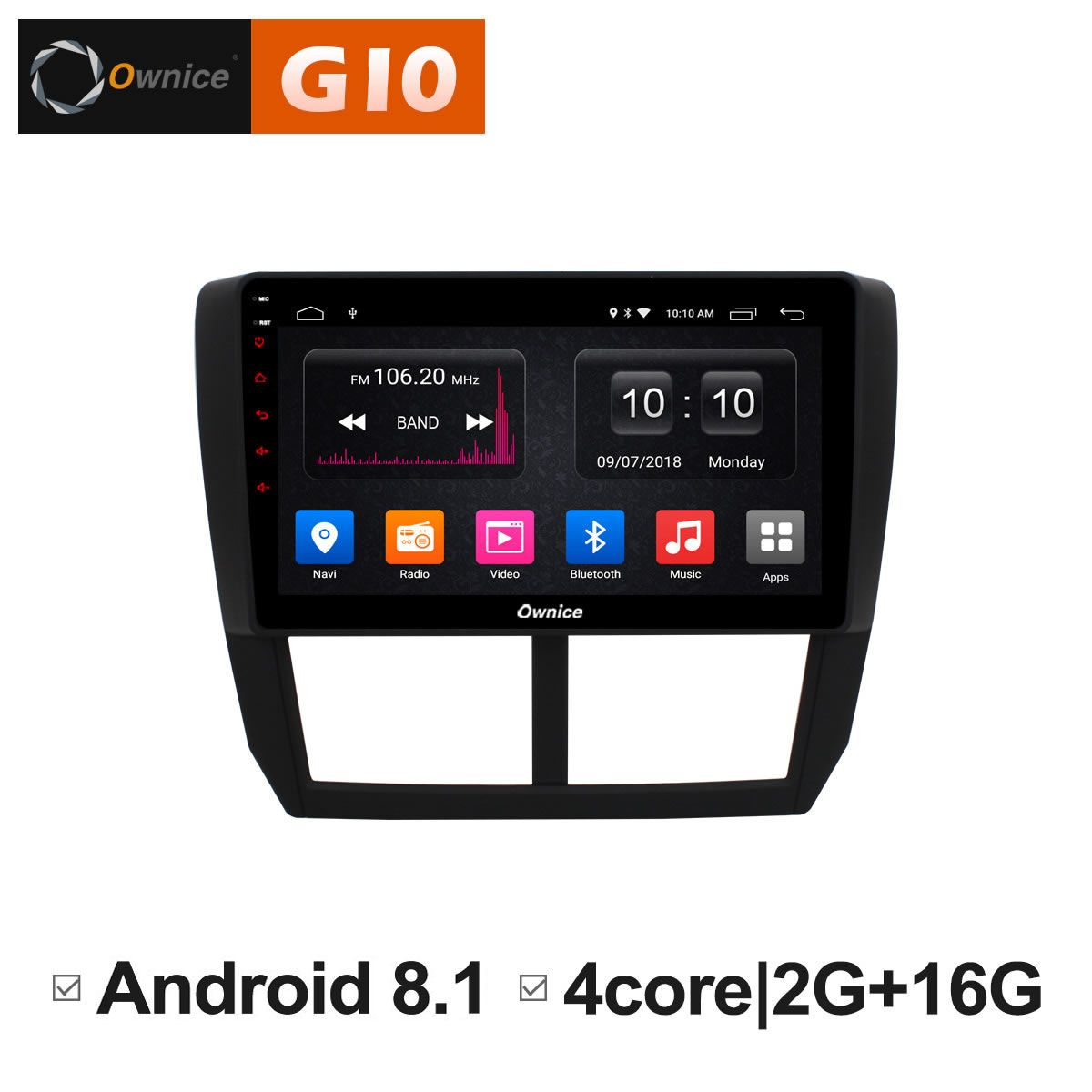 Ownice C500+ G10 Octa 8 Core Android 8.1 2G RAM Car DVD GPS Navi Player Radio For Subaru Forester XV WRX 2008 2009 - 2012 DAB+