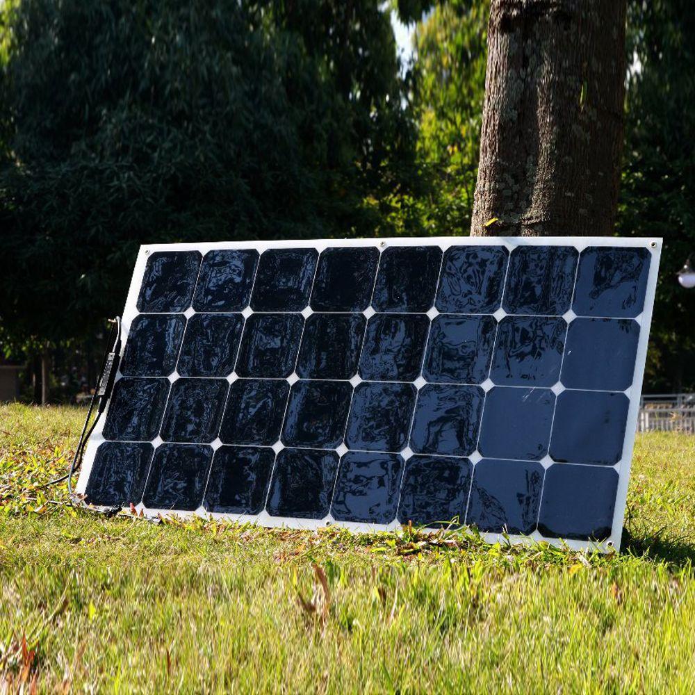 BOGUANG 100W 18V flexible efficient <font><b>solar</b></font> panel 12V cell module system caravan camper <font><b>solar</b></font> CA RU AU warehouse Free shipping