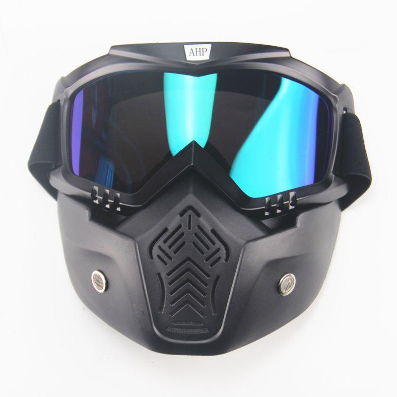 Gafas Moto lunettes pour Masque Motocross lunettes casque lunettes coupe-vent hors route Moto Cross casques Masque lunettes