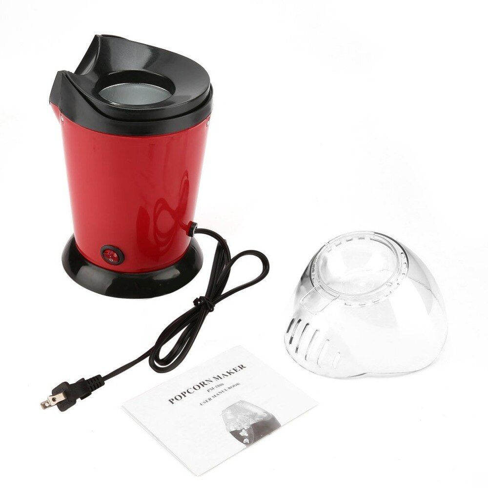 Portable Electric Popcorn Maker Home Round/Square Hot Air Popcorn Making Machine Kitchen Desktop Mini DIY Corn Maker 1200W