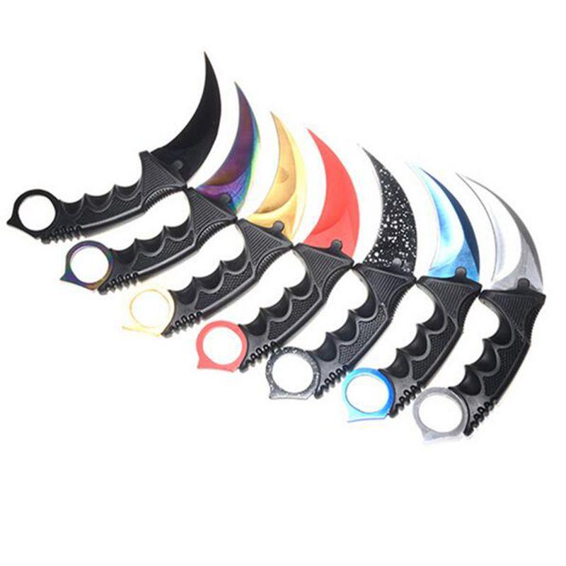 Chaud! Couteau de Karambit de chasse fait à la main CS GO ne se décolore jamais contre-grève combat survie couteau tactique griffe Camping couteaux outils