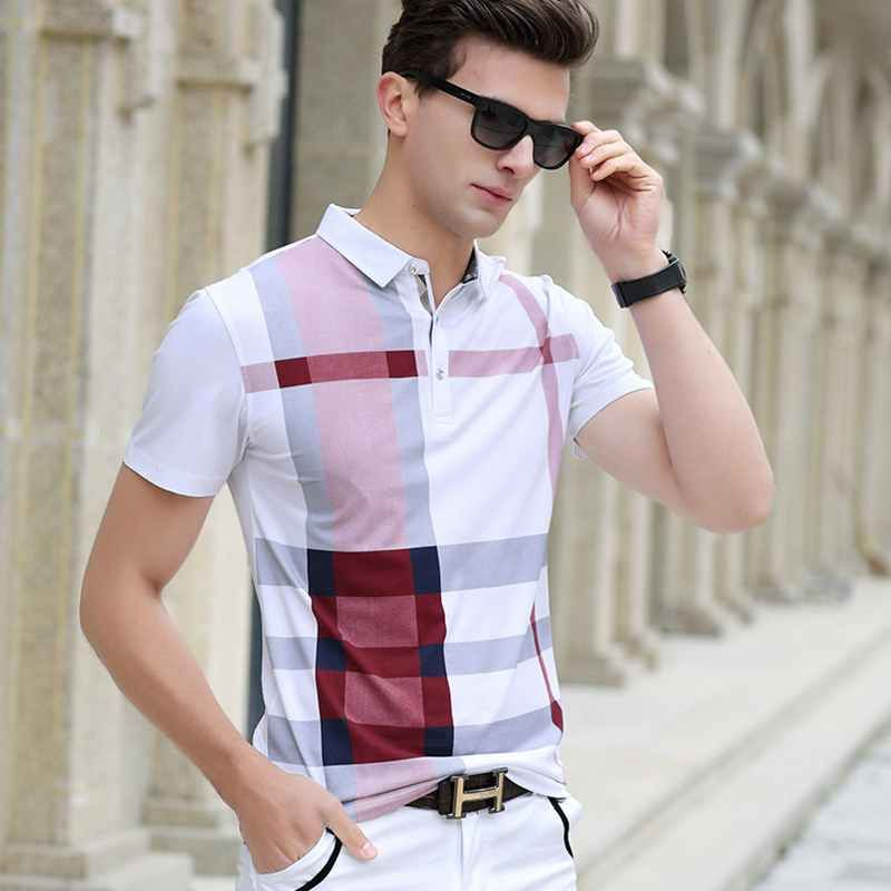 Men Polo Shirt Hot Sale New plaid 2017 Summer Fashion classic casual tops Short Sleeves <font><b>Famous</b></font> Brand Cotton Skull High quality