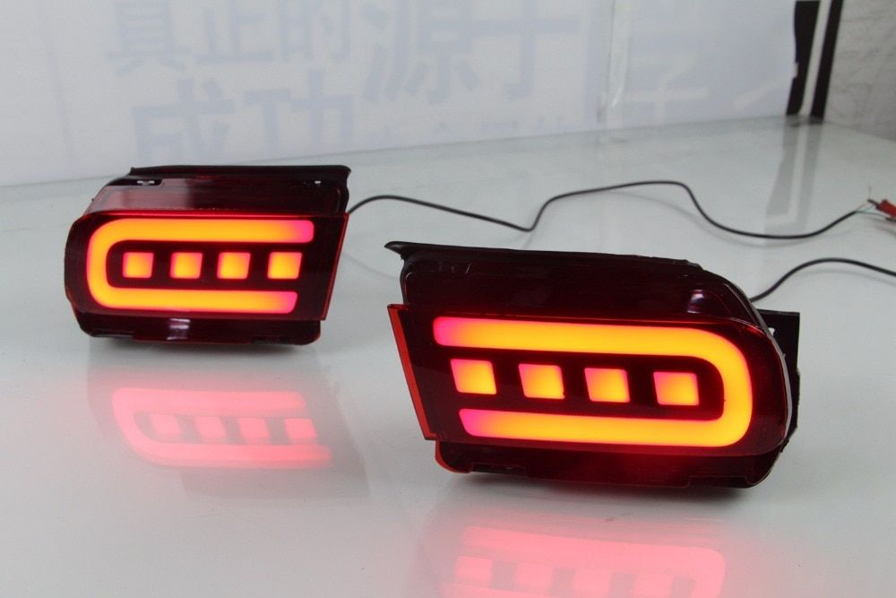 led rear bumper lights driving lights brake lamp for Toyota prado 2010-2018