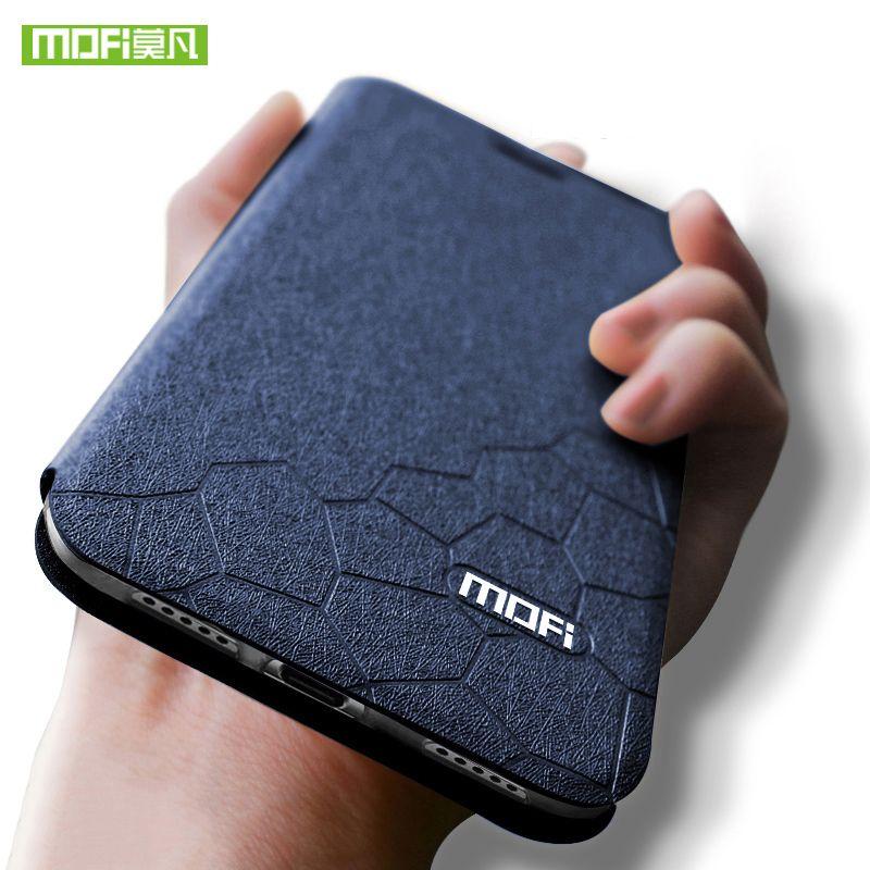 Mofi pour xiaomi a2 lite cas silicone de couverture arrière pour xiaomi mi a2 lite cas Flip En Cuir mi a2 lite cas TPU fundas 5.84 pouce