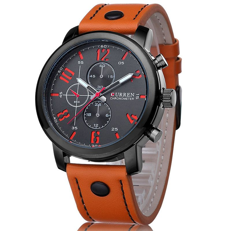 Luxury Casual Men Watches Analog <font><b>Military</b></font> Sports Watch Quartz Male Wristwatches Relogio Masculino Montre Homme CURREN 8192