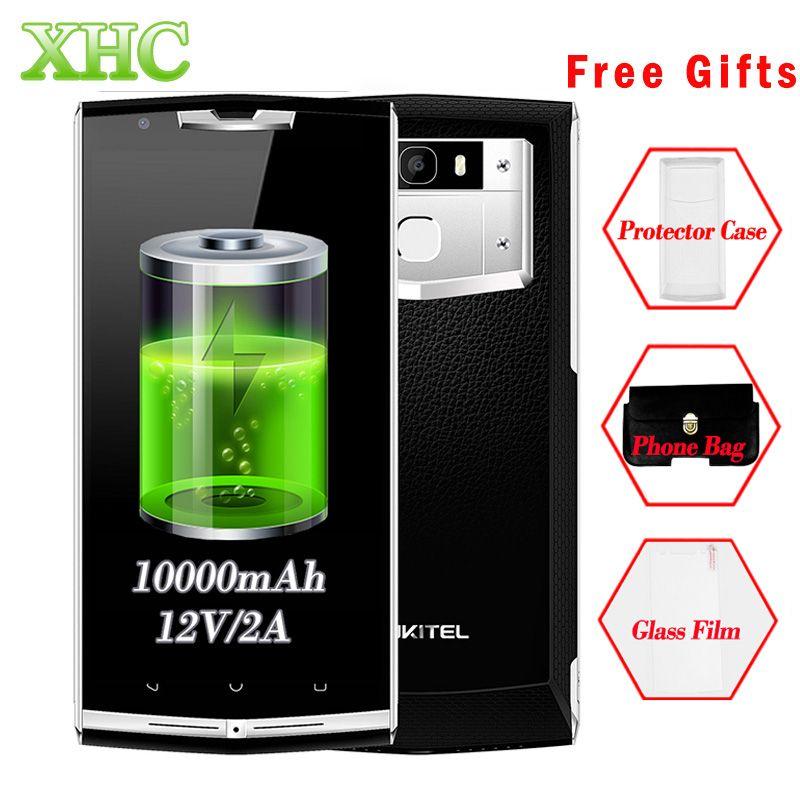 OUKITEL K10000 Pro 3 GB 32 GB Smartphone 10000 mAh 5,5 zoll Android 7,0 MTK6750T Octa Core Fingerabdruck Dual SIM LTE 4G Mobile telefon