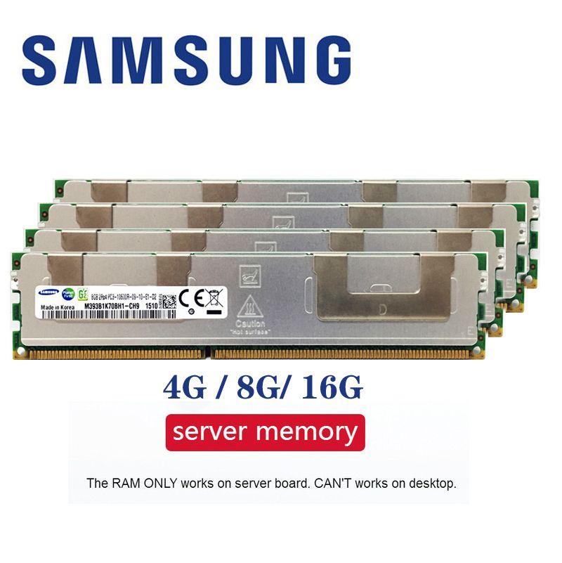 Samsung Serveur mémoire 4 GB 8 GB 16 GB DDR3 PC3 1066 Mhz 1333 Mhz 1600 Mhz 1866 Mhz 8G 16G 10600R 12800R 14900R ECC REG 1600 1866 RAM