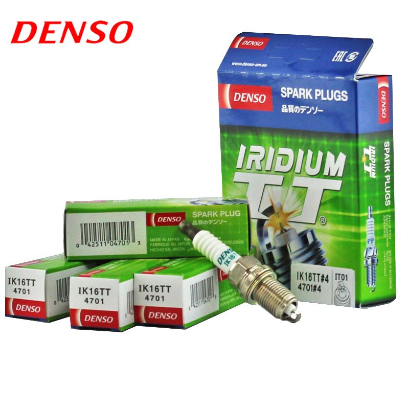 4pcs/lot DENSO Car Spark Plug For Toyota  Yaris NCP90R 130R NCP91R 93R 131R Corolla FX6T AE101 double iridium IK16TT