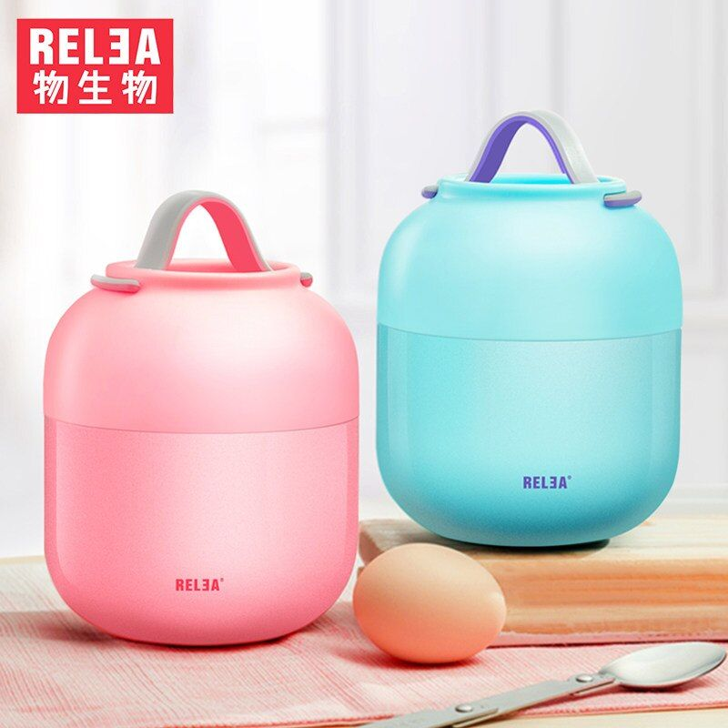 thermo jug vacuum stainless steel container Lunch Pail Thermos Food Container Stainless Steel Jar Lunch Box Dinnerware