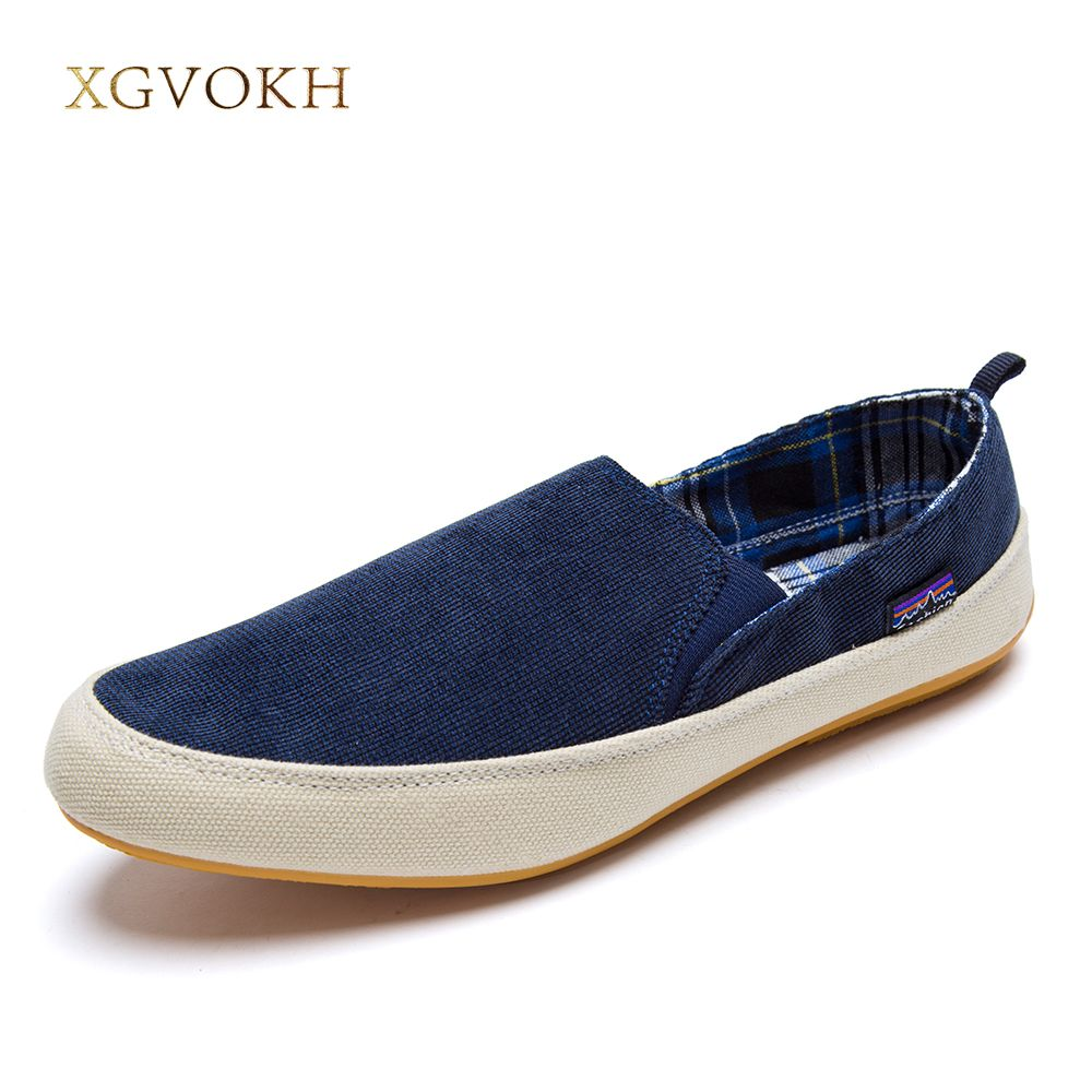XGVOKH New men casual shoes man spring autumn Loafers England Fashion Zapato Breathable Slip on flats chaussure homme sneakers