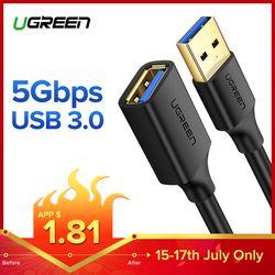 Ugreen USB удлинитель USB 3,0 кабель для Smart tv PS4 Xbox One SSD USB3.0 2,0 для удлинителя данных шнур мини USB удлинитель